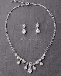 sterling silver wedding necklace images Bridal jewelry bridal necklace sets wedding necklace page 2 jpg