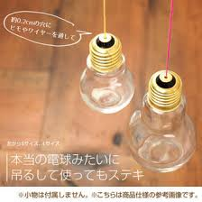 light bulb shaped l kawaiikan rakuten global market glass bottle bulb pot bulb shaped
