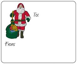 Label Sheet Template Santa Gift Labels To And From Sheet Label Templates