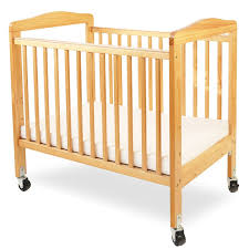 Portable Crib Mattress L A Baby Compact Wooden Window Portable Crib With Mattress