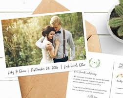 elopement announcements elopement announcement just married announcement custom