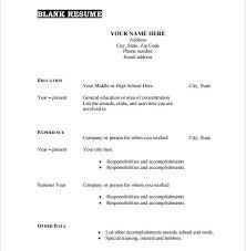 empty resume format 11 resume format blank free templates