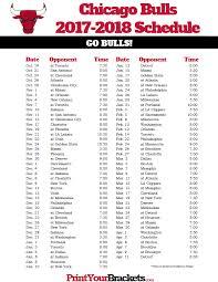 Printable Bulls Schedule | printable chicago bulls schedule 2017 2018