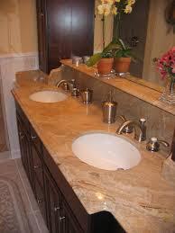 Granite Bathroom Vanity Top by Brown Granite Bathroom Vanity Countertop With Round White Sink And