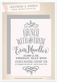 bridal brunch invite empress stationery chevrons swirls bridal brunch invitation