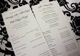 classic wedding programs classic black on linen wedding invitations and programs