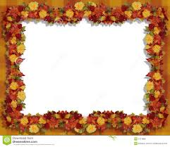 thanksgiving fall leaves and flowers frame royalty free stock