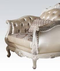 Gold Fabric Sofa 3 Piece Rose Gold Pu Leather Fabric Sofa Set By Acme