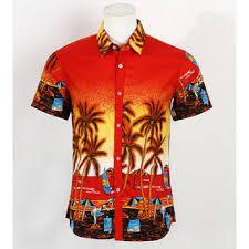 Tropical Themed Clothes - shop men u0027s red hawaiian shirt on wanelo