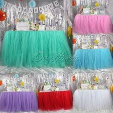 Table Skirts Pricess Tutu Tulle Table Skirts For Wedding Party Birthday Baby