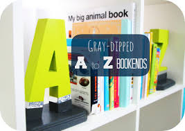 a to z bookends diy for my future reader this is our bliss