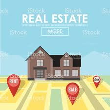 House For Sale Real Estate Concept With House For Sale And Rent Stock Vector Art