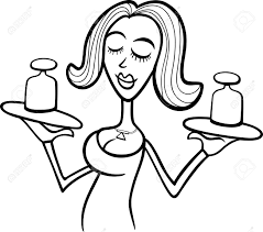 illustration of beautiful woman cartoon character with weights