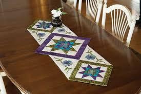 flower table runner quilt kit keepsake quilting