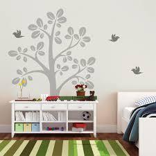 Nursery Tree Wall Decal Large Tree Vinyl Wall Decals With Flying Birds Nursery Tree Wall