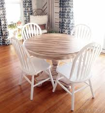 round table van ness faux planked table transformation reality daydream