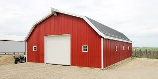 Hip Roof Barn by Post Frame Farm Barns Alberta Barn Builders Remuda Building