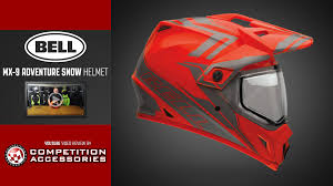motocross helmet with shield bell mx 9 adventure snow helmet review youtube