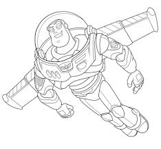coloring page exquisite draw buzz lightyear coloring page draw