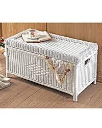 white wicker storage chest house of bath