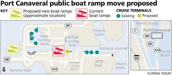 Port Canaveral Map Port Canaveral Boat Ramp Relocation By The Locks Map The Hull