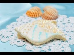 seashell shaped cookies how to decorate sea shell cookies brushed embroidery technique