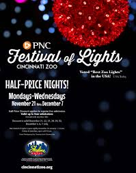 cincinnati zoo festival of lights hours get 1 2 price tickets to pnc festival of lights at skyline chili