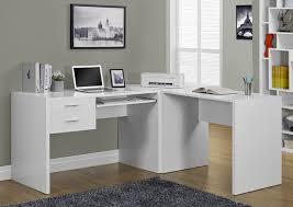 beautiful white l shaped computer desk on desks corner desks