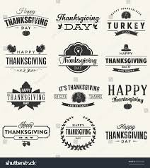sign language thanksgiving happy thanksgiving day design collection set stock vector