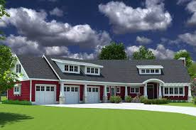 red cottage with in law suite 18249be architectural designs
