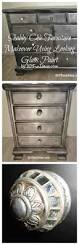 aged silver finish metallic spray paint gray stained cabinets