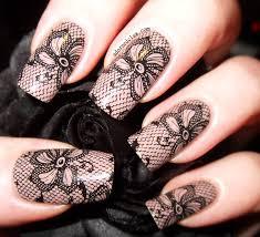 55 most beautiful lace nail art designs