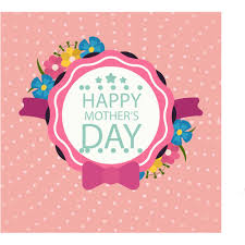happy mother u0027s day layout design with roses lettering ribbon