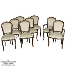 Louis 15th Chairs Eight Antique Mohair French Dining Chairs In Louis Xv Style