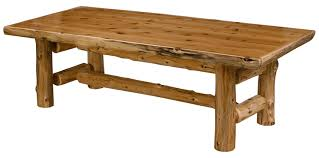 Log Dining Room Table Cedar Log Dining Table Pcdt01 Cedar Log Dining Room Furniture