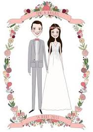 custom wedding custom wedding portrait illustration original by pamelagoodmanart