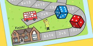 addition bus board game add adding games maths numeracy