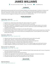 resume template for retail sales associate resume template for retail associate bongdaao com