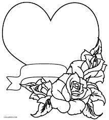 rose heart coloring pages coloring