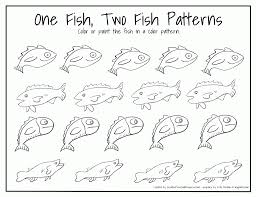 fish pattern cut out coloring home