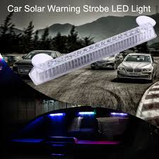 security led lights car 20cm 16leds car led alarm lights car solar warning light security