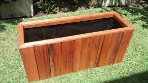 Redwood Planter Boxes by Redondo Beach Ca U2013 Raised Bed Redwood Planter Curtis Custom
