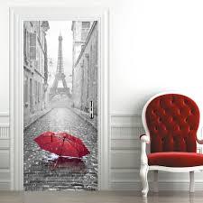 bedroom scenery door cover wall sticker for door doorwrap door