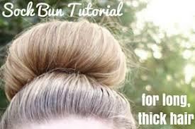 sock hair bun sock bun tutorial for thick hair beauty and the binky