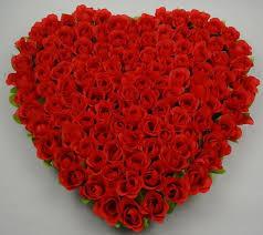 40x37cm artificial silk flower wedding car decoration heart shaped