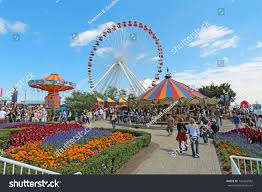 Chicago Tourist Attractions Map by Chicago Illinois September 4 Tourists Amusement Stock Photo