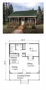 tiny house plan 49119 total living area 676 sq ft 1 bedroom
