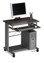 sightly rectangle black iron mobile computer desk transparent