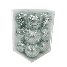 60mm mirror disco ornaments 12 count shopko