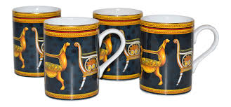 Porcelain Coffee Mugs by Gucci Historical Chairs Porcelain Coffee Cups Set Of 4 Chairish